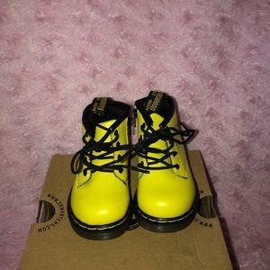 Dr marten toddler yellow boots